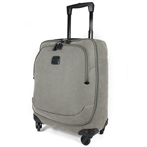 Trolley bagaglio a mano in tessuto scamosciato e cuoio Bric's, linea Life