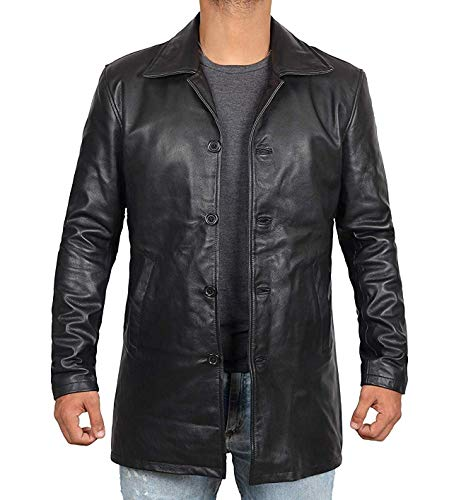 Decrum Mens Leather Coats - Men Leather Jackets Black | [1500045] Super Black, ()