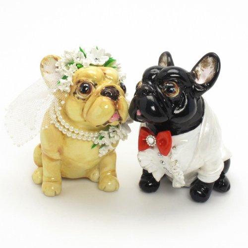 French Bulldog Wedding Cake Topper P0011 Dog Lover Figurine Handmade Decor Centerpiece Amazoncouk Pet Supplies