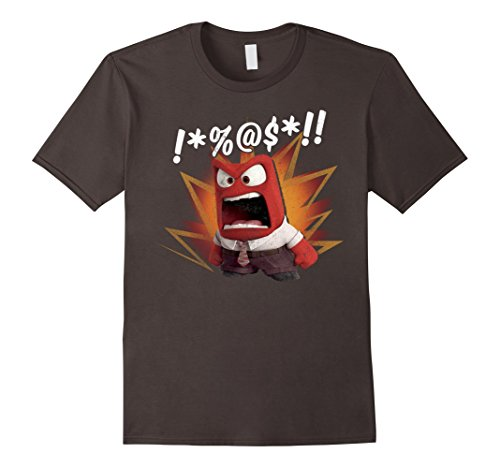 Mens Disney Inside Out Anger Symbols Graphic T Shirt Xl Asphalt