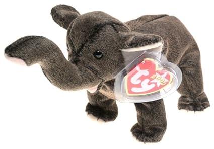 4facaa01aa1 Amazon.com  Ty Beanie Babies - Trumpet the Elephant  Toys   Games
