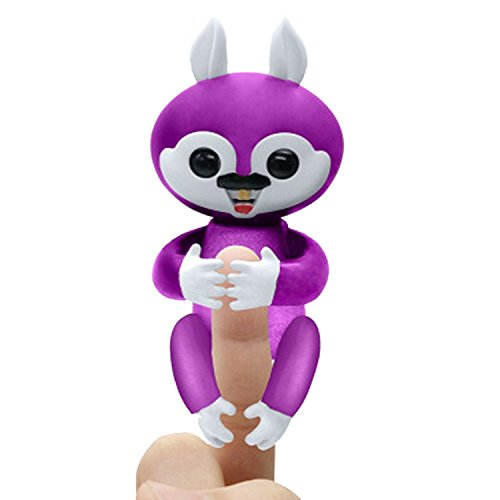 Finger Squirrel Toy Interactive Toys Electronic Pet Puppets for Children Adults (Purple) ()