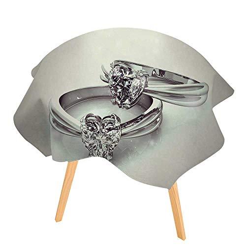 PINAFORE 100% Polyester Printed Table L'anneau de Mariage beauté for Home, Restaurants, Cafés 50