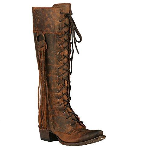 Lane Womens Junk Gypsy by Chili Trailblazer Lace-Up Western Boot Snip Toe - Jg0010c Chili