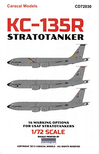 [CARCD72030 1:72 Caracal Models Decals - KC-135R Stratotanker [WATERSLIDE DECAL SHEET]] (Usaf Kc 135)