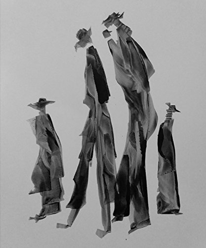 Black and White Abstract Gesture drawing with chines ink on white paper-187 by Red Studio Gallery