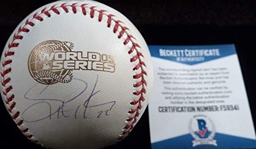 Scott Podsednik Autographed Ball - Beckett bas 2005 World Series Game 1 - Beckett Authentication - Autographed Baseballs