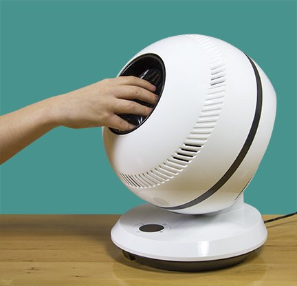 pureFlow QT7 - Bladeless Quiet RC Oscillating Table Fan