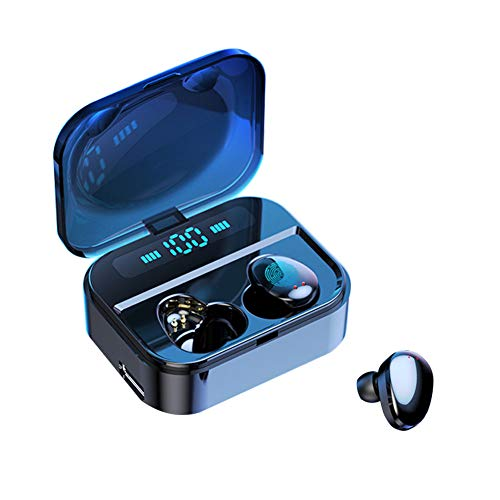 VJJB True Wireless Earbuds with Upgraded LED Digital Display Charging Case, Bluetooth 5.0 Earphones with Touch Control Stereo in-Ear Headphones with Mic Waterproof Headset for Sports Running