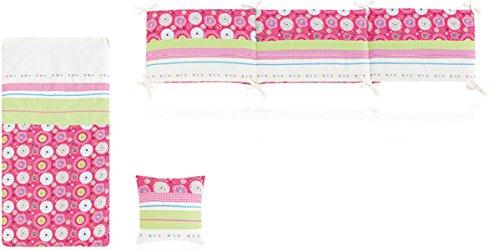 Bettdecke + Displayschutzfolie + Cojin 72x 142Folk weiß und Erdbeere