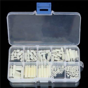 140pcs m2 entretoises hexagonales en nylon é crou de vis assortiment Stand Off kit accessoires ensemble Pakhuis 89837172PK