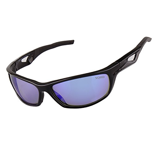 XQHD Polarized Sports Sunglasses,Superlight Frame Design for Mens and Womens - Running / Cycling / Baseball Golf/ Outdoor Activities - Polarized Light Blue Lenses - Can For Lenses Get Made You Any Glasses