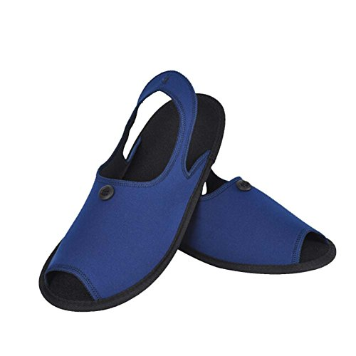 Generic Unisex 2-in-1 Portable Non-slip Slippers Foldable Slippers Travel Slippers Sandals for Men Women with Folding Shoe Storage Bag Ideal for Traveling and Business Trip Blue IQ9Qljjjw