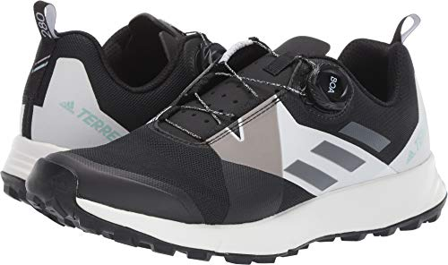(adidas outdoor Terrex Two Boa Womens Trail Running Shoes, Black/Grey Four/White, 10.5)