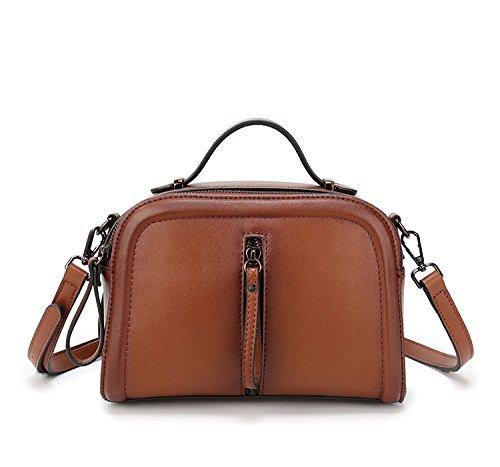 épaule pour main véritable épaule fourre Designer les sac Sacs bandoulière paquet petit Messenger en sac diagonale couleur Spray femmes tout cuir à Brown besace sac 4pIqqXxn7