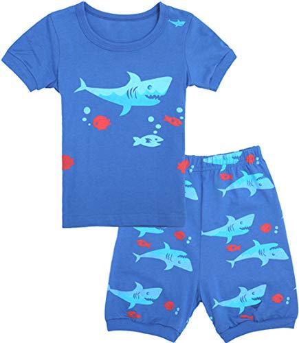 Qtake Fashion Boys Pajamas Children Clothes Set 100% Cotton Little Kids Pjs Sleepwear (Pajamas2, 6) -