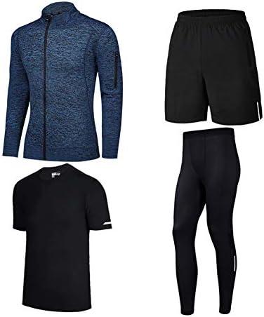 ファッション フィットネスウェア、スポーツスーツ、メンズフォーピーススーツ、フィットネスウェア、スポーツタイツ、トレーニングウェアスポーツウェア エレガント