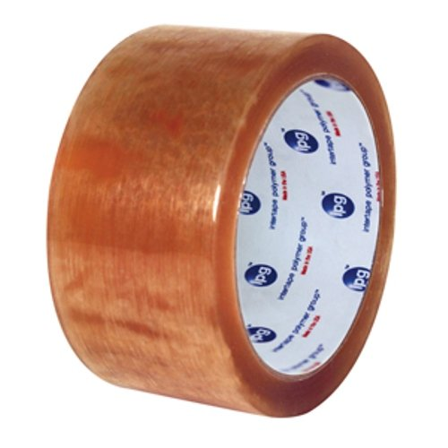 Intertape Polymer Group N8245 570 Solvent Natural Rubber, Utility Carton Sealing Tape, 1.6 Mil Thick, 100M Length x 48mm Width, Clear, Case of 36 Rolls