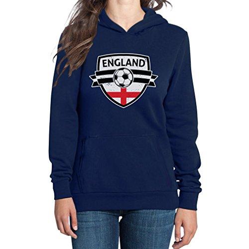 England Da On Con Felpa Del Cappuccio Come Blu Mondo Donna Coppa Inghilterra Sx4d5x0qw