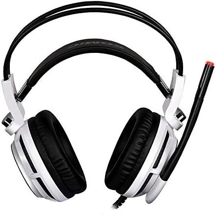 Chennong コンピューターのPCのゲーマーのためのマイク振動ステレオベースゲームヘッドフォン付きバーチャルゲーミングヘッドセット