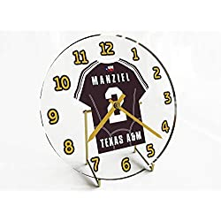 FanPlastic SEC Southeastern Conference College Football - Personalized Desktop Clocks - Size 7 X 7 X 2 - The Best A Fan CAN GET !!! (Texas A&M)