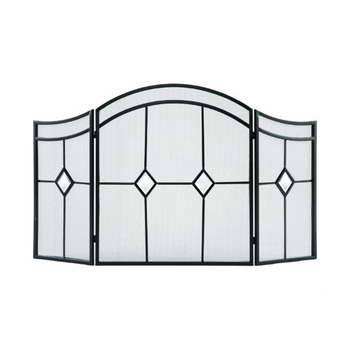 Pleasant Hearth Arched Diamond 3-Panel Fireplace Screen by