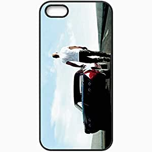 Personalized iPhone 5 5S Cell phone Case/Cover Skin Fast and furious 6 fast six vin diesel dominic toretto car road Movies Black