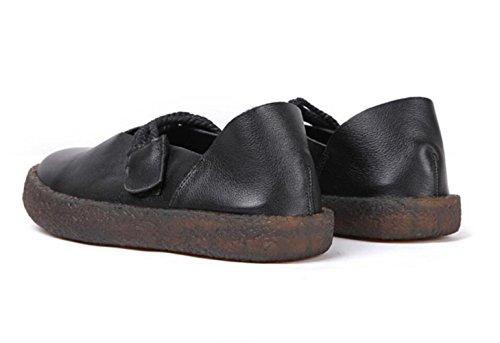 à la Femme Sport Tête Chaussures Semelle Magique de Talons Souple à Chaussures Black à Chaussures Main Bas Confortable Ronde dIwvxqdR