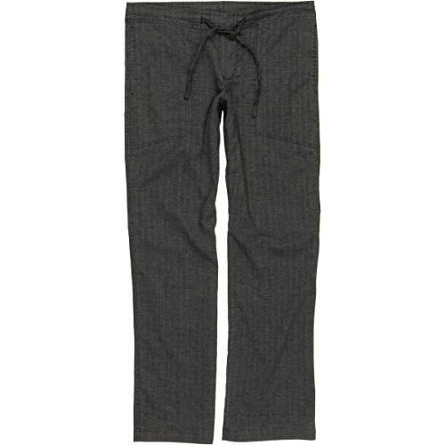 prAna Men's Sutra Pant, Black Herringbone, Large