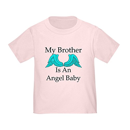 CafePress My Brother is an Angel Baby Toddler T-Shirt Cute Toddler T-Shirt, 100% Cotton Pink