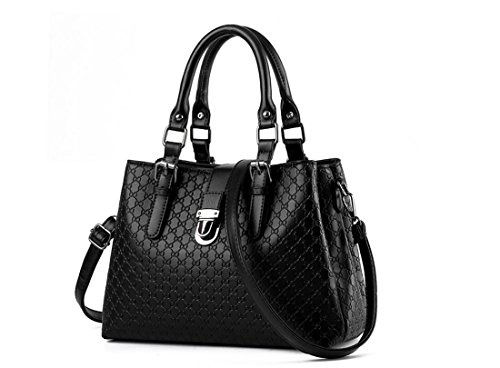 moyen de sac dame sac chèque sac bouton mode de souple Black de Nouveau d'âge à bleu LEODIKA dames sac mère mode la à de sac marine de main qH1XwYxWg
