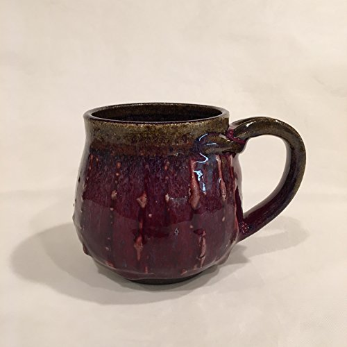 Purple Handmade Ceramic Mug, Multi color Clay Coffee Mug TCDECPPL1