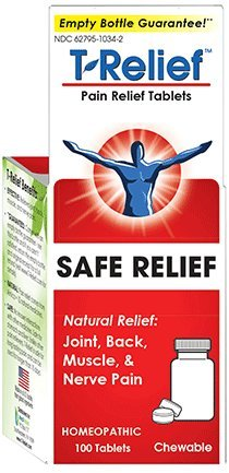 T-Relief Pain Relief 13 Natural Medicines Tablets 100 ea (Pack of 2) (100 Relief Tablets)