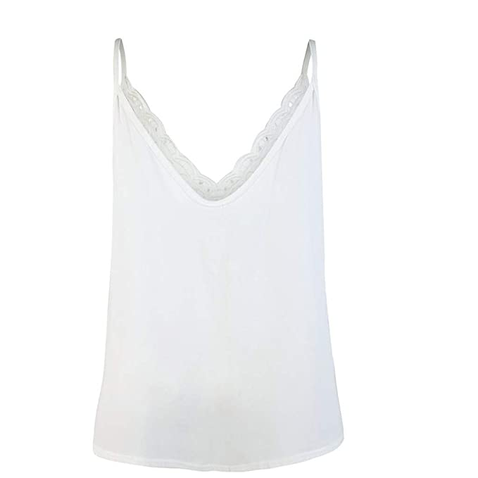 Wave166 Camisetas Mujer Moda Chaleco de Encaje para Mujer ...