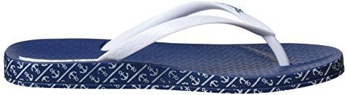 Ipanema Anatomica Soft, Chanclas para Mujer Multicolor (Blue/White)