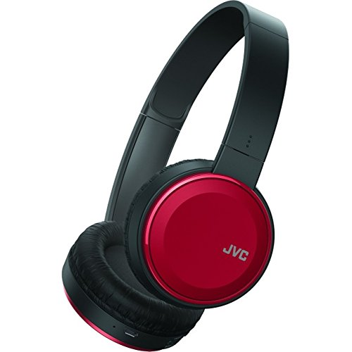 JVC Wireless Lightweight Flat Foldable On Ear Bluetooth Wireless Headband with Mic Red (HAS190BTR) (Jvc Headphone Bluetooth)