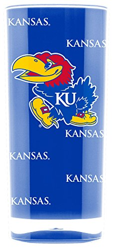NCAA Kansas Jayhawks 16oz Insulated Acrylic Square Tumbler ()