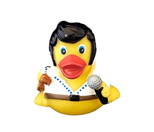 DUCKY CITY 3 Rock n Roll Rubber Duck [Sealed Hole, No Mildew, Floats Upright] - Imaginative Baby Toddler Safe Bathtub Bathing Toy