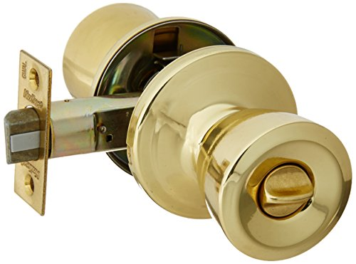 Kwikset Corporation 97300-875 Abbey Bed/Bath Knob, Polished (Georgian Knob Set Privacy Lock)