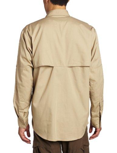11 Beige manga 5 hombre profesional de larga Caqui Taclite Tdu Camisa pqqd8