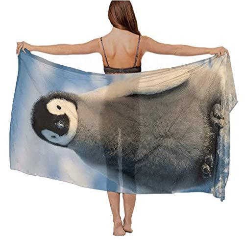 Chiffon Scarf - Penguin, Vacasion Evening Party Swimwear Fashion Scarf Soft Cozy Infinity Scarf Long Summer Elegant Wrap Sunscreen Paisley Scarf ()