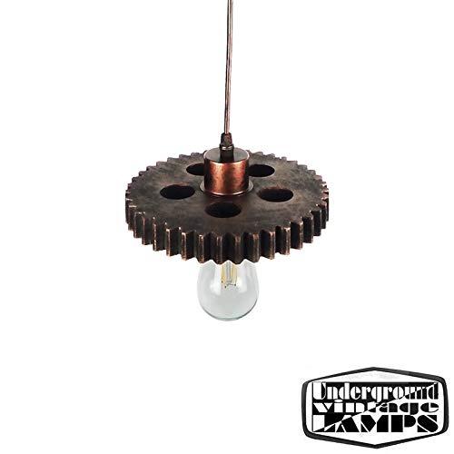 Ceiling Pendant Lamp E27 Copper Vintage Industrial Style Gear cog Lamp Holder