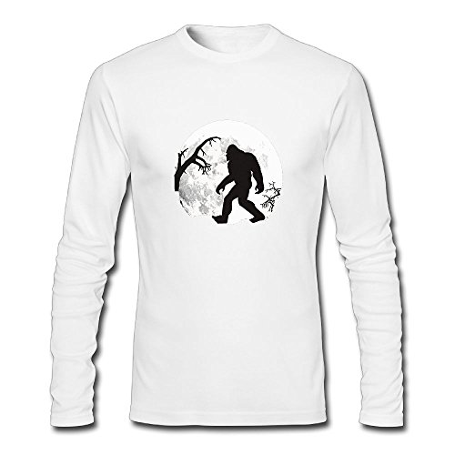 (Jidfnjg Full Moon Bigfoot Perfect Round Neck Long Sleeve Fall Wear T-Shirt.)