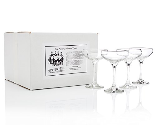 Algonquin Cocktail Glass (''Entertaining Set'' of 4) by HISTORY COMPANY (Image #1)