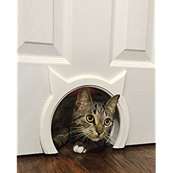 Cat door the original cathole interior pet door the only cat door with a - Cat door for hollow core door ...