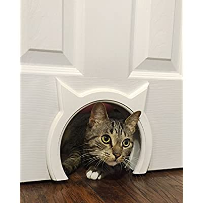 Cat Box The Kitty Pass Interior Cat Door Hidden Litter Box Pet Door for cats up to 21 lbs [tag]