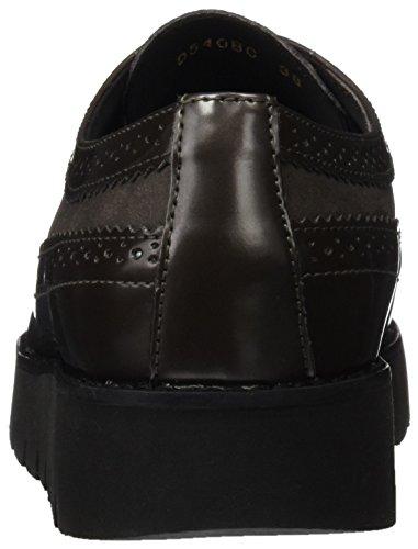 Gris de Zapatos D C Mujer Vestir Blenda para Geox Grey Dk UZFqTw