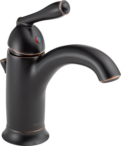 Peerless P188627LF-OB Apex Single Handle Bathroom with Traditional Lever, Oil Bronze (Oil Lever Single)