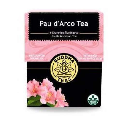 Organic Pau d'Arco Tea, 18 Bleach-Free Tea Bags - Organic Antifungal, Antiparasitic Tea, Works as an Effective Immune Booster, and Promotes Detoxification, No GMOs