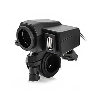 OXOX Jtron motocicleta impermeabilizan la fuente de alimentaci¨®n del adaptador del z¨®calo del alumbrador cigrette USB Terminal MC